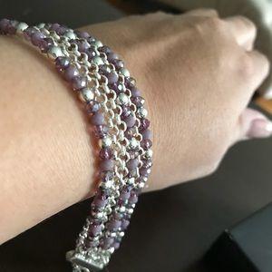 Jewelry - Lavender & Silver 6 Row Bracelet- NEW!